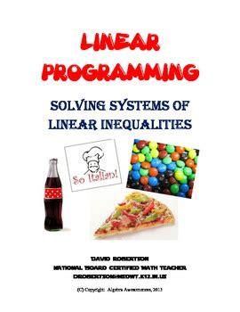 Homework help linear programming
